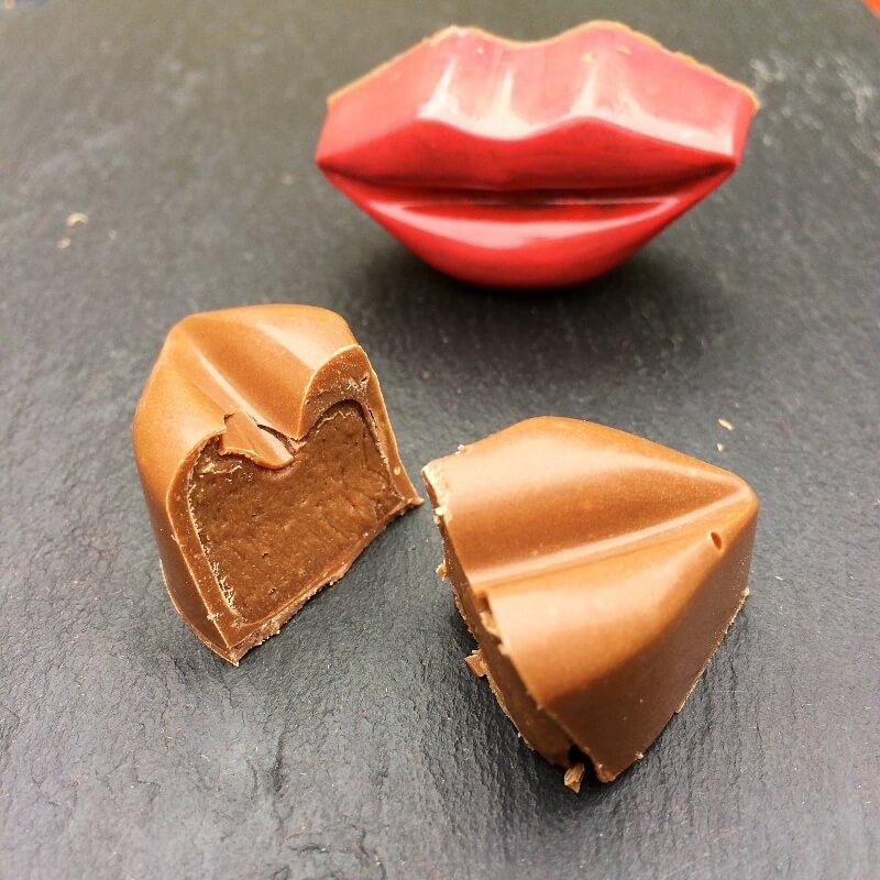 Banánová pusa v mliečnej čokoláde