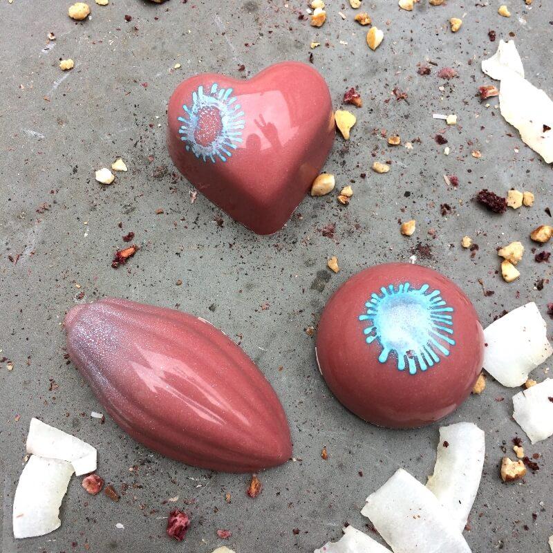 Pralinky z ruby čokolády