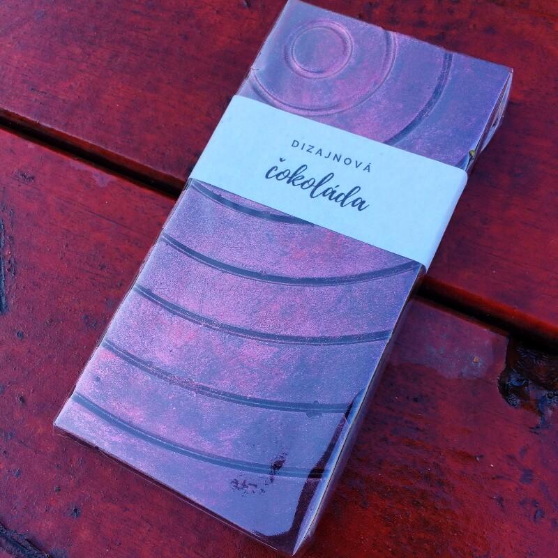 Dizajnová čokoláda s posypom (celofán) - Horká 70