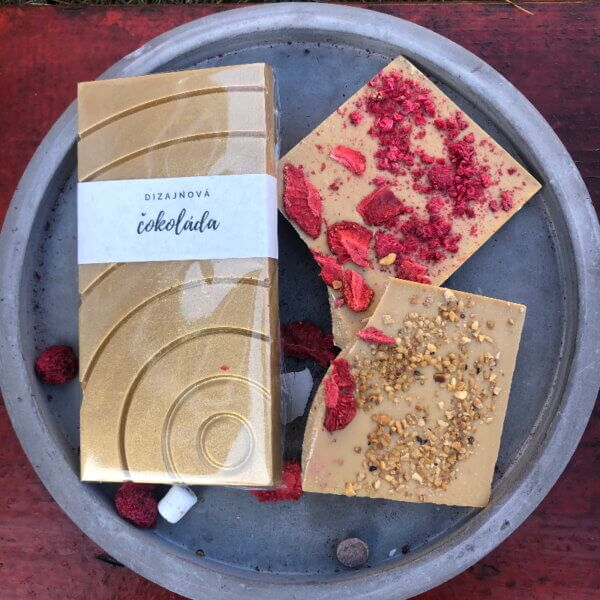 Dizajnová čokoláda s posypom – Gold